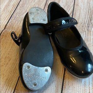 Black patent leather tap shoes Dance Shoes
